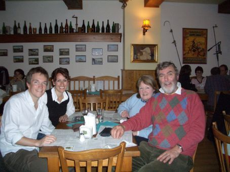 A very surprise visit from Jan and Ian from Scotland. What better place to celebrate than in one of Prague's many micro-breweries/pubs. And they found it and recommended it to us!!