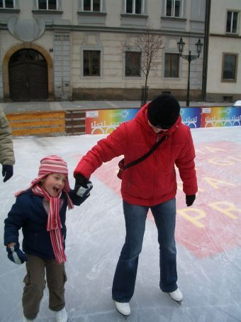 Pavlina and little Adelka - what a star!