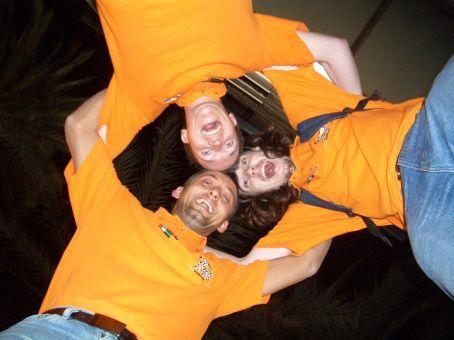 Those gaudy orange t-shirts...!