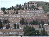Driving back into Barcelona, we passed this huge cemetary-on-a-cliff. Ominous.: by maria_brett, Views[162]