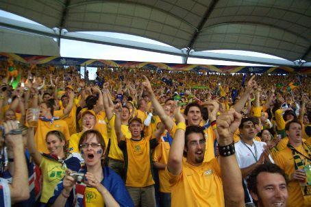 Fans erupt after goal is scored!