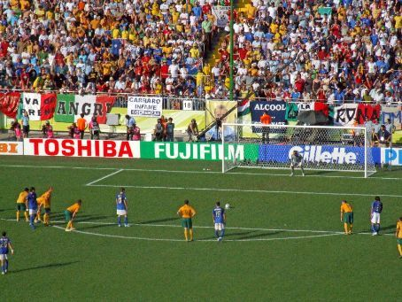 Moments before Totti's last-second penalty sealed Italy's 1-0 victory over Australia. Did this win Italy the Cup?