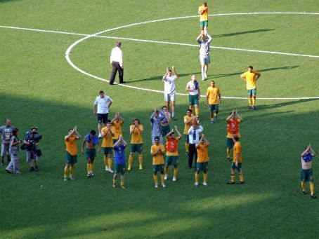 Led by Guus Hiddink (a.k.a. 'God'), the Socceroos stayed after their defeat to appreciate the crowd. There were tears all round from players and fans (and even from you at home, we've heard), but more from bursting pride than sadness.