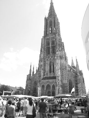 The huge 'Munster' cathedral in Ulm. You can see this from almost any point in town.