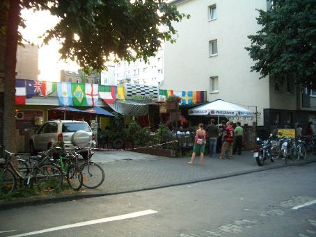 Smaller beergarden in Koln for the France v Portugal semi-final. Very comfy.