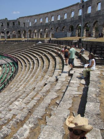 Can you believe these seats are almost 2000 years old? People still sit here to watch modern concerts.