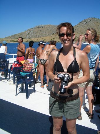 On the way to the Kornati islands. If you see this Paparraza, run!