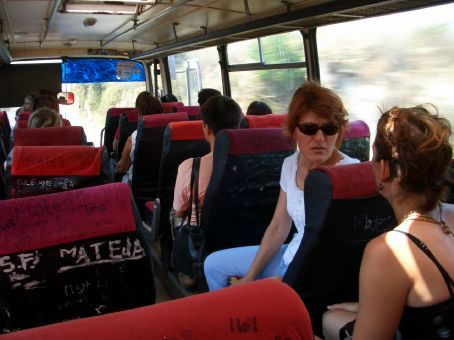 Typical local bus servicing Zadar and the surrounding villages, including Policnik. We jumped on this twice-daily service and found Maria's aunty already on it.