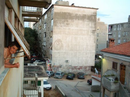 View from Maria's aunty, Teta Rosa's place in Zadar - typical Yugoslav style. We spent a lot of time here, hanging out with Tomislav (Maria's cousin) and heading into town from here, only a 5 minute walk away.