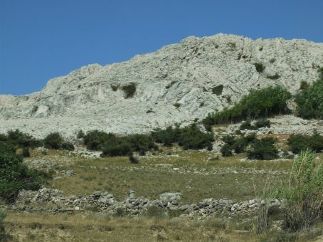 Typical Croatian countryside on the Dalmatian coast. Rocks, shrubs and dramatic scenery from north to south.