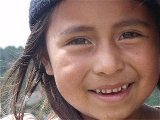 This is a beautiful girl from Chiapas, she gave smiles to everyone.