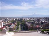 Looking down from the top of the Cascad with Ararat in the background.: by markarianlawrence, Views[988]