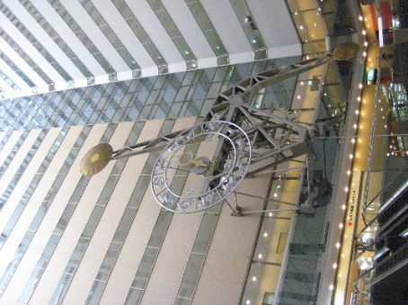 Clock in the atrium of the NS Building, Shinjuku