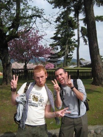 Pete and I turning Japanese in Nara