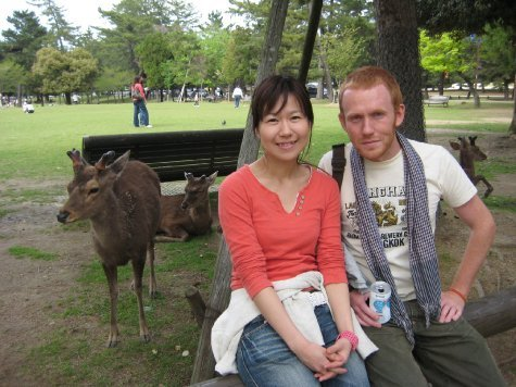 My 'deer' friends, Kumi and Pete!