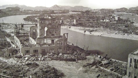 A picture of Hiroshima after the bomb