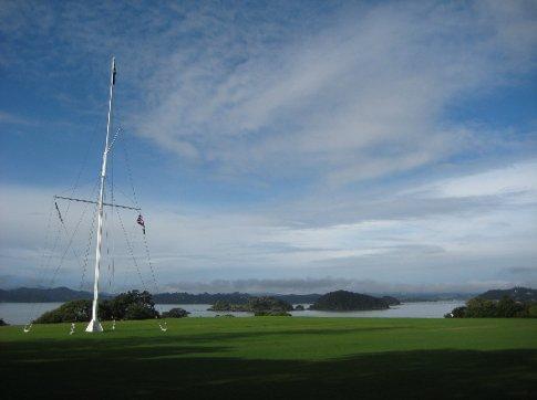 The site where the Waitangi Treaty was signed between European and Maori representatives in 1840