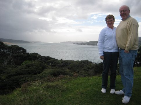 Mum & Dad at Hokianga Harbour