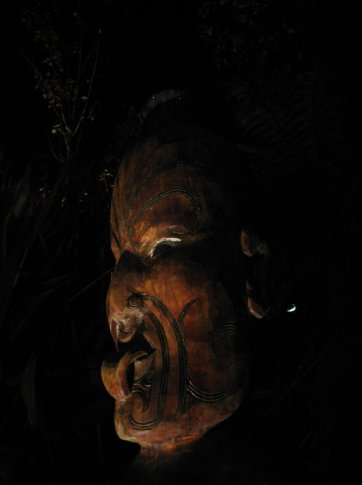 A Maori wood carving