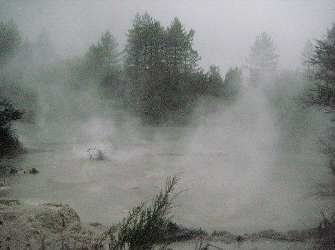 Boiling mudpools