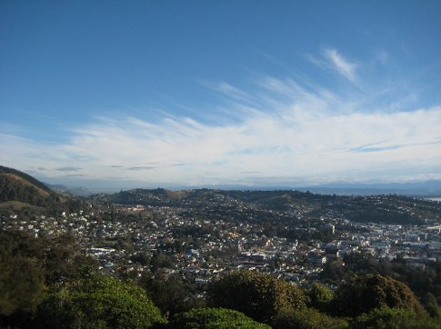 View of Nelson from the 'Centre of New Zealand Walk'
