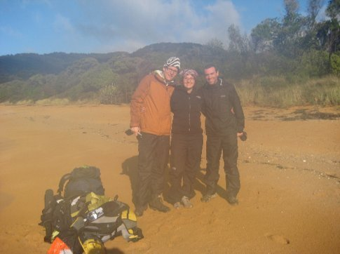 Tom, Danika and me at the start of the Abel Tasman trek