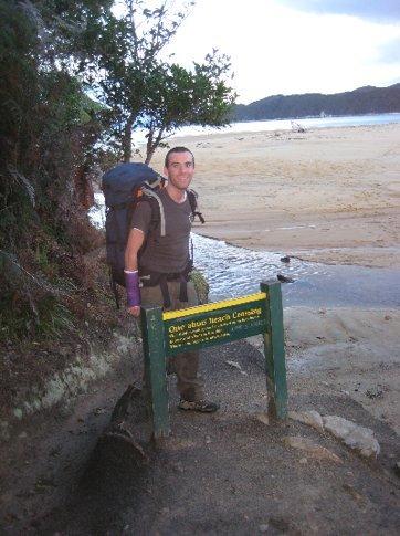 At Onetahuti Beach as the night closed in
