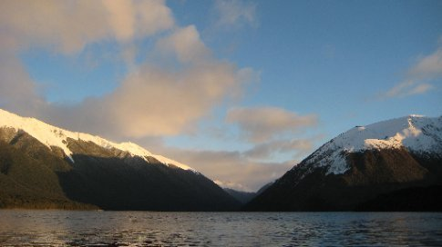 Lake Rotoiti in the evening