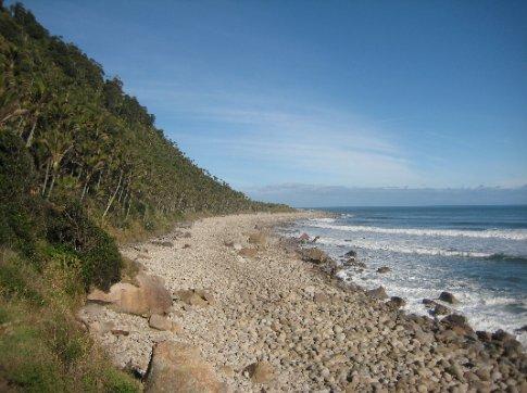 The Heaphy Track hugs the Tasman Sea coastline