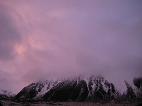 Mount Cook area at dusk