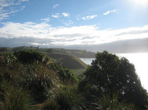 Old Maori hill settlements near Kaikoura