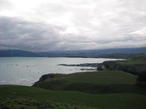 The coastline near South Bay, Kaikoura