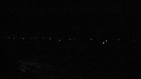 Night fishing boats on the sea off Varkala Beach