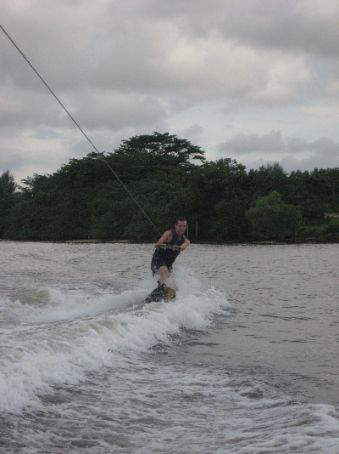 A natural born wakeboarder