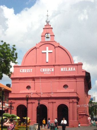 It's Christ Church in Melaka, can't you see?