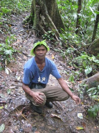 Our tour guide on the trek to see the Rafflesia flower
