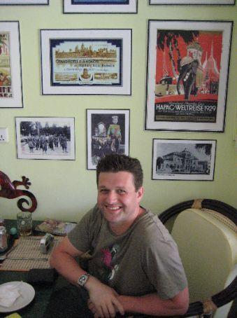 Simon at the Garden Cafe Centre