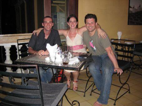 Me, Maria & Simon at the Foreign Correspondents Club, Phnom Penh