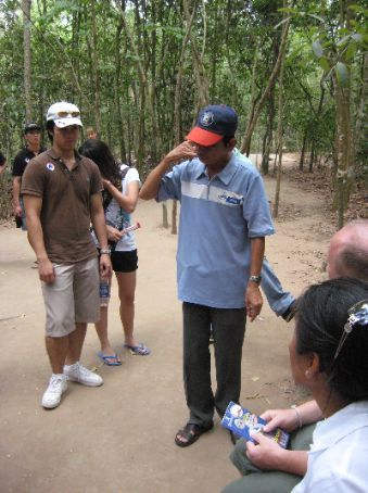 Mr Binh, our mad guide on the Cu Chi Tunnels tour
