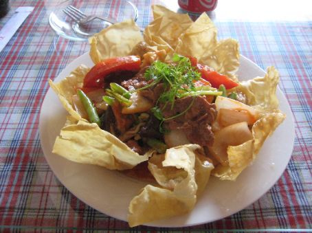 A Hoi An specialty of crispy wantons, beef and vegetables...very tasty!