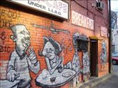 The mural painted on the side of the cafe where we had breakfast every morning.: by martin_rix, Views[84]