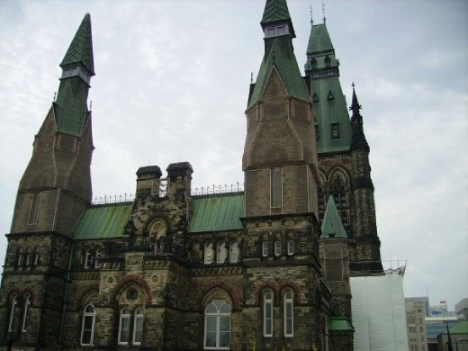 Part of the parliament building in Ottawa