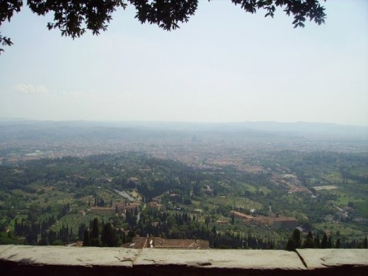 View of Florence from up in the hills.