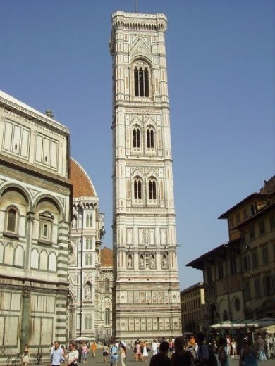 The Bell Tower next to the Duomo