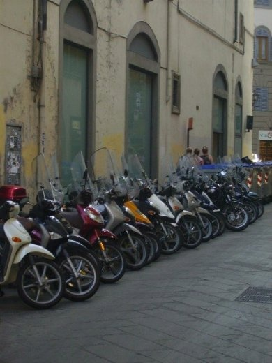 How everyone gets around in Italy.
