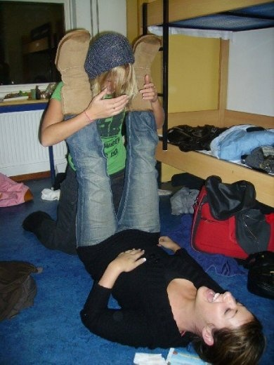 Acting the fool in the hostel
