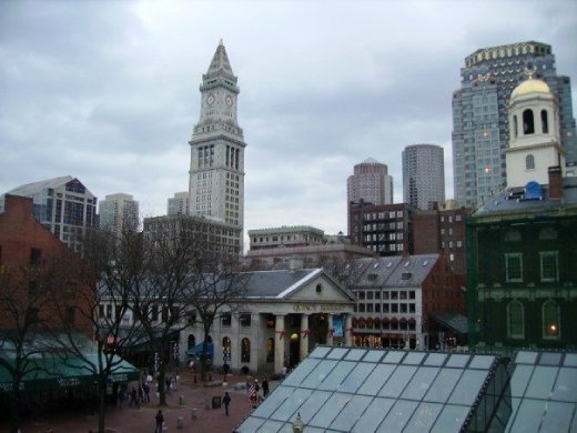 View from my hotel room in Boston.