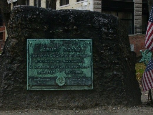 Samuel Adams' Grave, one of the signers of the declaration of independence.