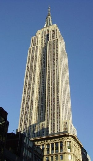 The Empire State Building next morning.