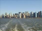 On the boat out to Liberty Island with the New York skyline behind.: by martin_rix, Views[85]
